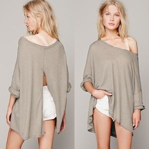 Free People Storyteller Waffle Knit Thermal Top